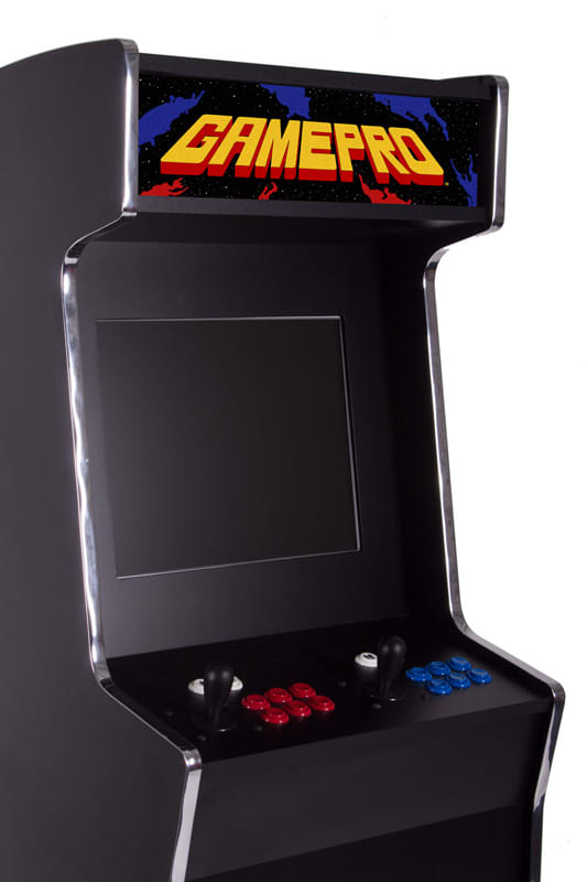 GamePro Invader Upright Arcade Machine - Top Half