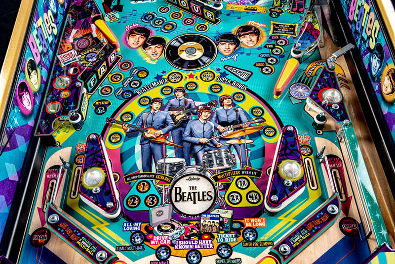 The Beatles Pinball Machine - The Beatles Artwork