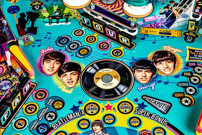The Beatles Pinball Machine - Record Magnet