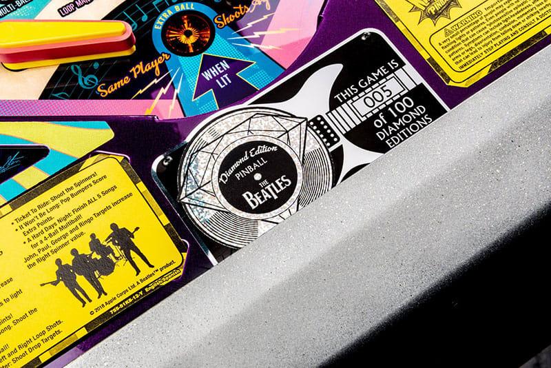 The Beatles Pinball Machine Diamond Edition - Plaque