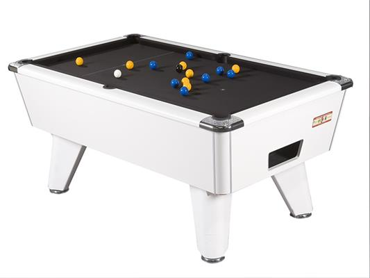 Supreme Winner Pool Table: White Pearl - 6ft, 7ft