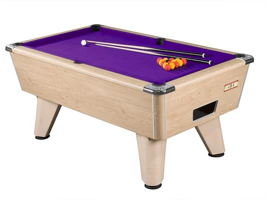 Supreme Winner Pool Table: Oak - 6ft, 7ft