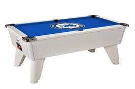 Signature Tournament Pool Table: White with Chelsea Cloth - 7ft