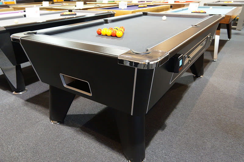 Contactless Payment Signature Tournament Pool Table - Angled View