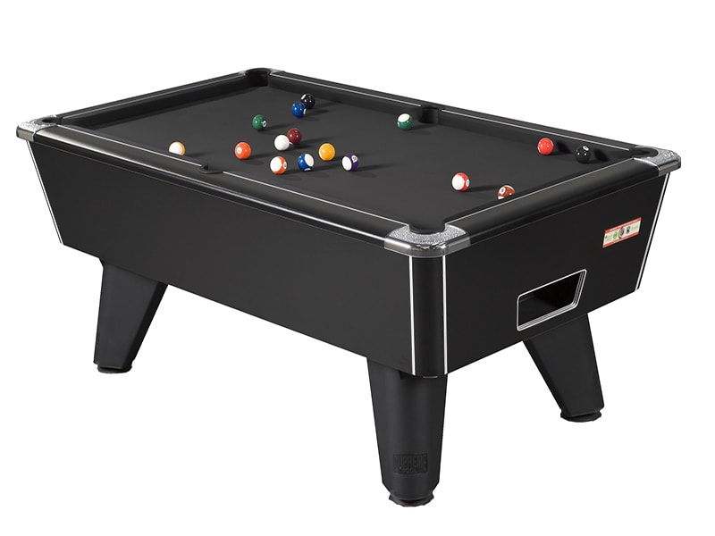 Supreme Winner Black Pool Table with Black Cloth