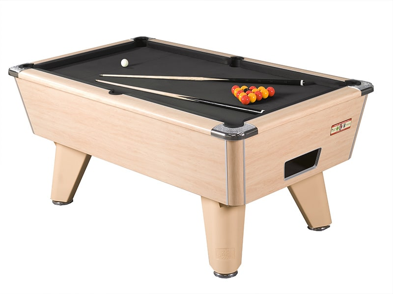 Supreme Winner Beech Pool Table with Black Cloth