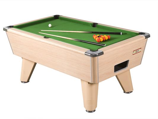 Supreme Winner Pool Table: Beech - 6ft, 7ft