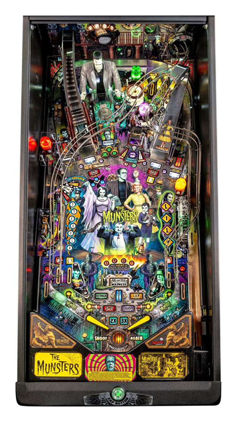 The Munsters Pro Pinball Machine - Playfield Plan