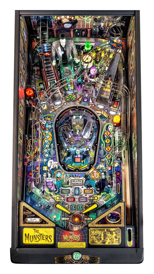 The Munsters LE Pinball Machine - Playfield Plan
