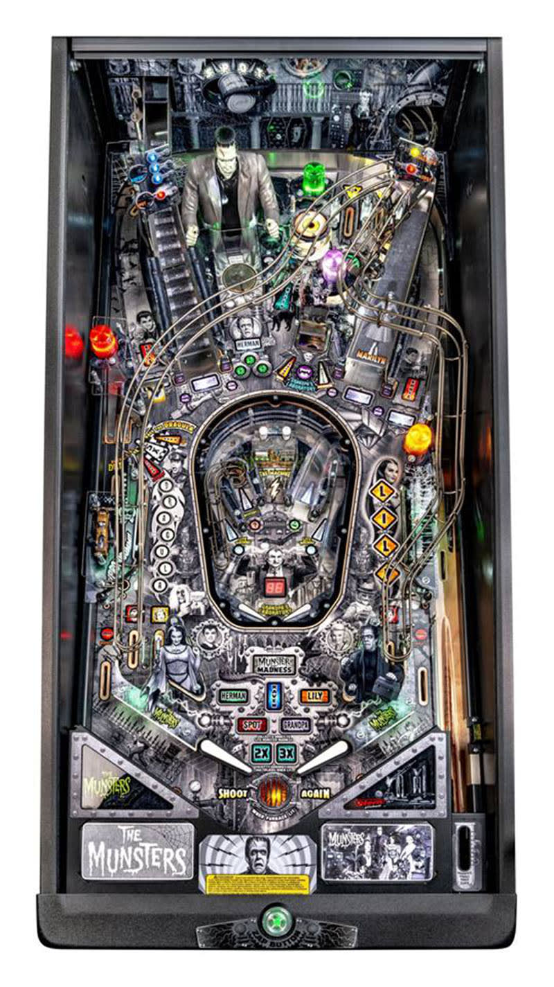 The Munsters Premium Pinball Machine - Playfield Plan