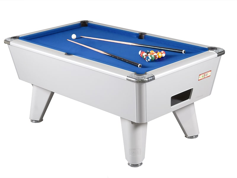 Supreme Winner Aluminium Pool Table with Blue Cloth