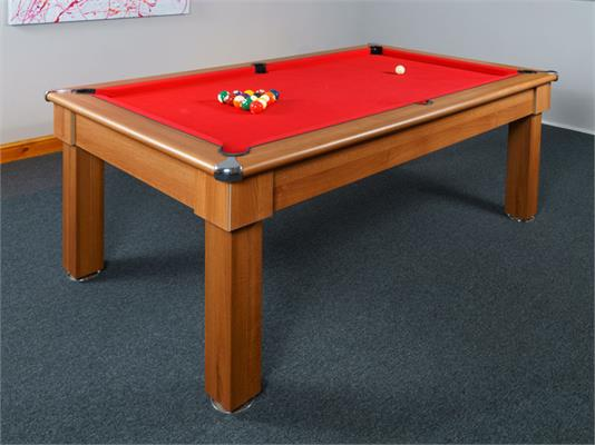 Signature Oxford Pool Dining Table: Light Walnut - 6ft, 7ft