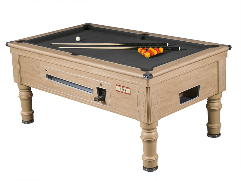 Supreme Prince Oak Pool Table with Black Cloth