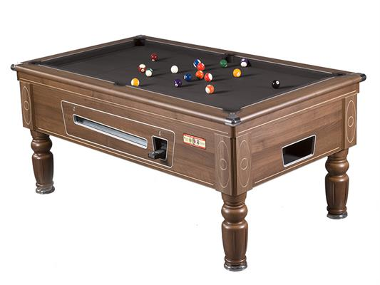 Supreme Prince Pool Table: Walnut - 6ft, 7ft