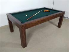 Signature Chester Walnut Veneer Pool Dining Table - 7ft: Warehouse Clearance