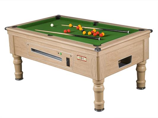 Supreme Prince Pool Table: Oak - 6ft, 7ft