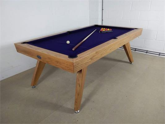 Signature Sexton Oak Pool Dining Table - 7ft: Warehouse Clearance