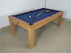 Signature Chester Oak Navy Pool Dining Table - 7ft: Warehouse Clearance