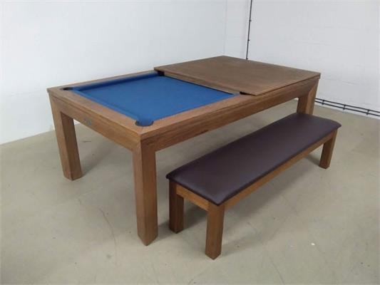 Signature Anderson Rustic Oak Navy Pool Dining Table - 7ft: Warehouse Clearance