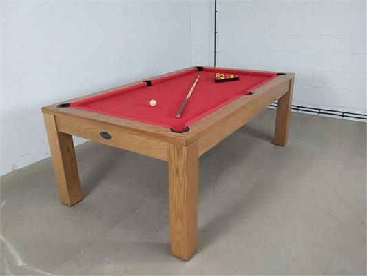 Signature Chester Oak Red Pool Dining Table - 7ft: Warehouse Clearance 28