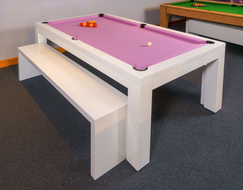 Signature Hawkes Pool Dining Table - with Bench - 3/4 Angle
