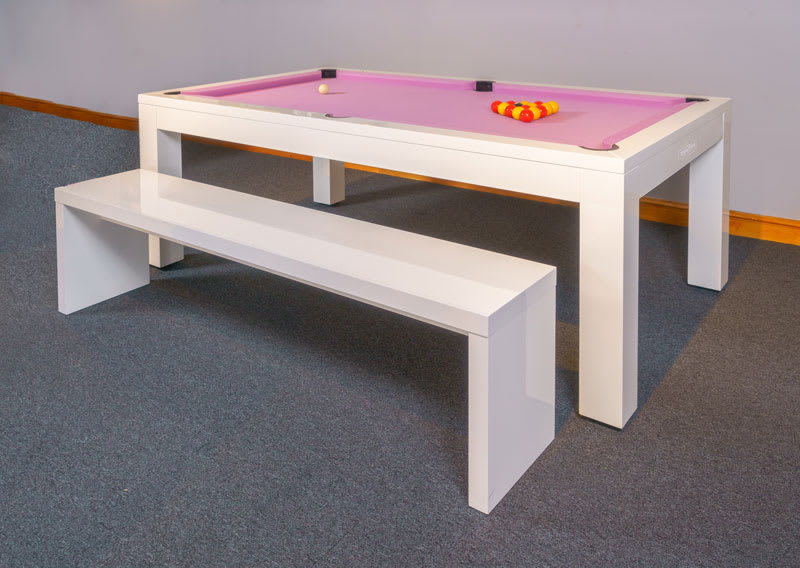 Signature Hawkes Pool Dining Table - with Bench - Reverse Angle