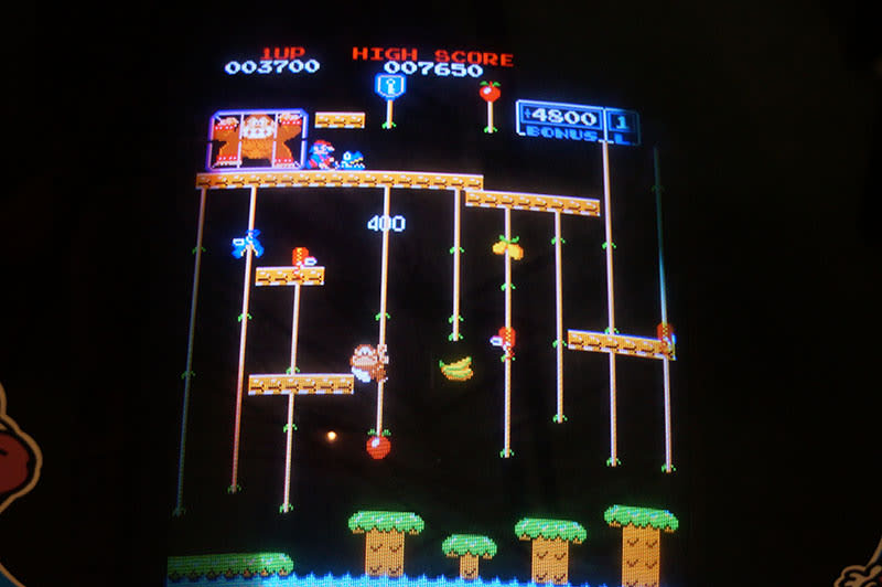Donkey Kong Jr. Arcade Machine - Game Screen