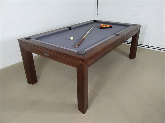 Signature Anderson Walnut Silver Pool Dining Table - 7ft: Warehouse Clearance