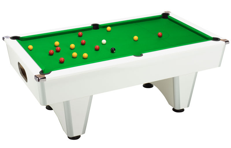 An image of Signature Champion Pool Table: White - 6ft, 7ft