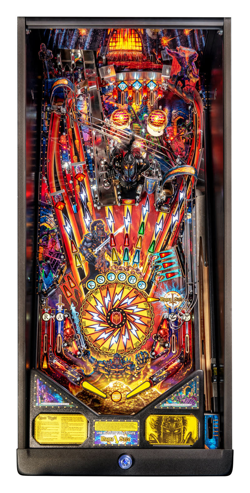 Black Knight: Sword of Rage Pinball Machine (Pro) - Playfield Plan