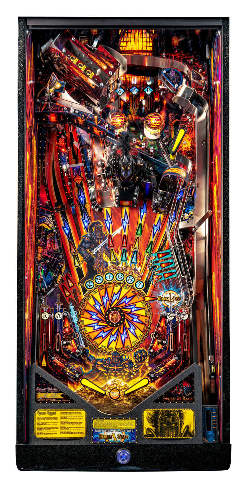 Black Knight: Sword of Rage Pinball Machine (LE) - Playfield Plan