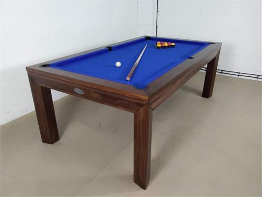 Signature Anderson Walnut Pool Dining Table - 7ft: Warehouse Clearance 2