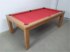 Signature Anderson Oak Red Pool Dining Table - 7ft: Warehouse Clearance