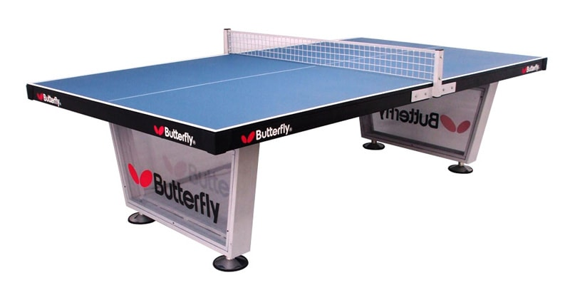An image of Butterfly Playground Outdoor Table Tennis Table - Blue |