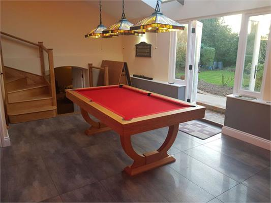 Signature Huntsman Solid Oak Pool Dining Table: 7ft