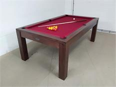 Signature Chester Walnut Cherry Red Pool Dining Table - 7ft: Warehouse Clearance
