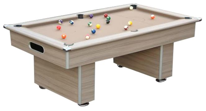 An image of Slimline Classic Pool Table - 6ft, 7ft