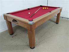 Windsor Pool Dining Table: Light Walnut - 7ft: Warehouse Clearance 63