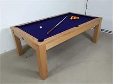 Signature Chester Oak French Navy Pool Dining Table - 7ft: Warehouse Clearance