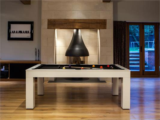 Duo Milano White Gloss Pool Table - 6ft, 7ft