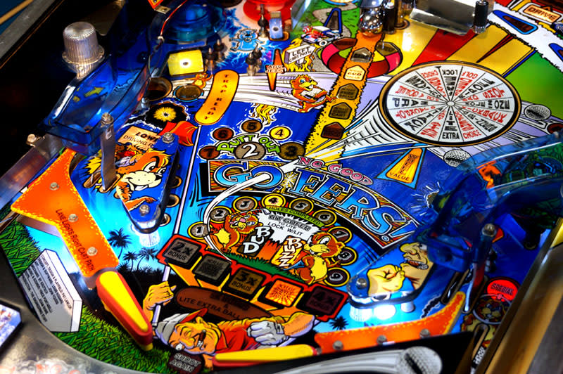 No Good Gofers Pinball Machine - Flippers