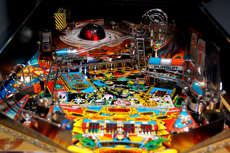 Judge Dredd Pinball Machine - Playfield View