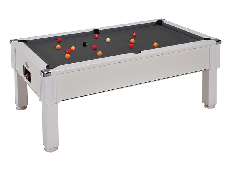 An image of Emirates Pool Table: White - 6ft, 7ft