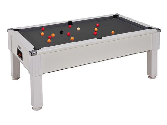 Emirates Pool Table: White - 6ft, 7ft