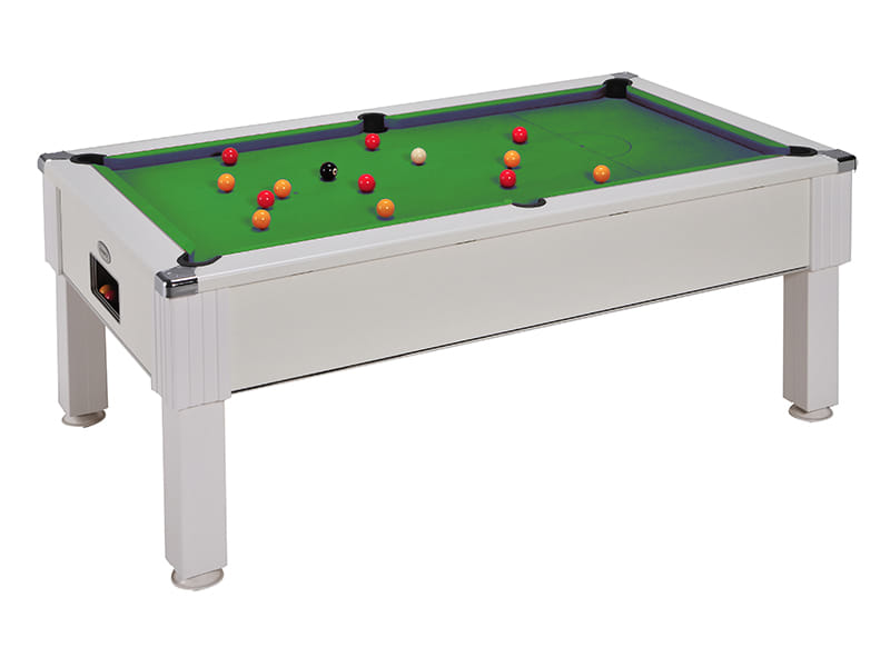 Emirates Pool Table: White - Green cloth
