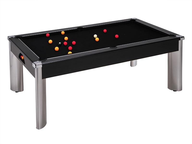 An image of Fusion Pool Dining Table: Black - 6ft, 7ft