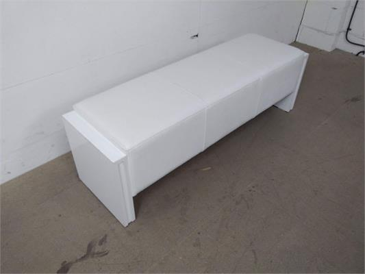 Sam 6ft Pool Table Bench - Upholstered, White: Clearance