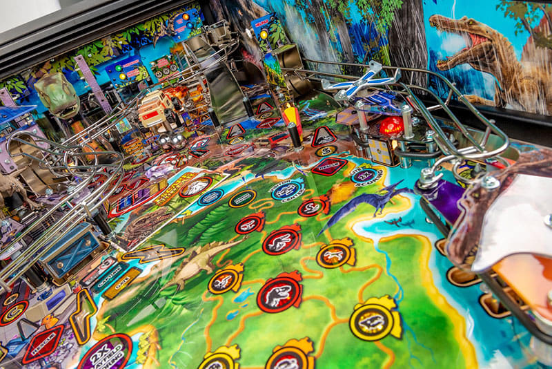 Jurassic Park LE Pinball Machine by STERN Pinball For Sale UK.