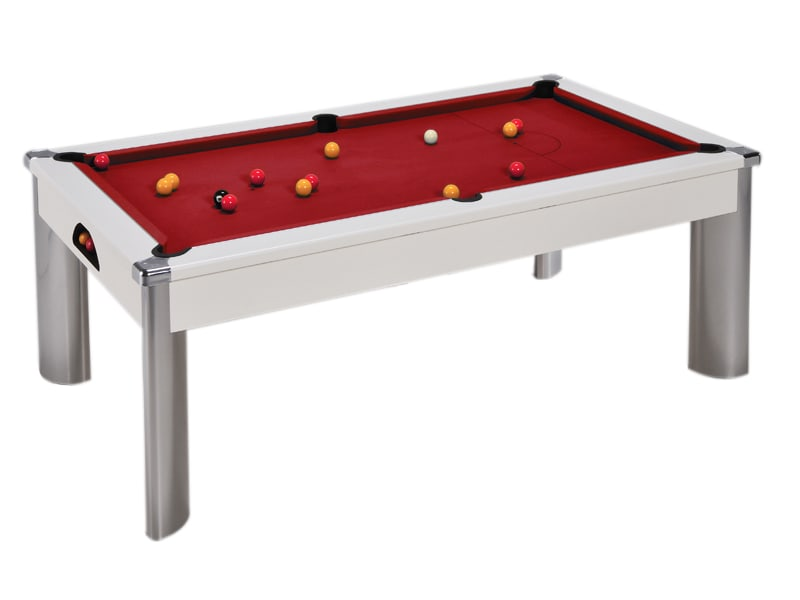 An image of Fusion Pool Dining Table: White - 6ft, 7ft