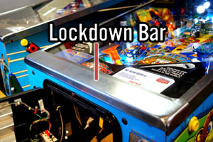 Pinball Machine Lockdown Bar